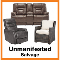 Truckload of Unmanifested Case Goods, Upholstery & More, Est. 80 - 100 Units, Salvage Condition, Est. Ext. Retail $40,000 - $50,000, Colton, CA