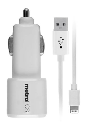 metropcs Lightning Connector Car Charger Tested for Key Functions,R2/Ready for Resale Z2, Jacksonville FL