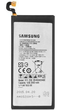 Samsung Galaxy S6 Battery Minimum 80% SOH, 1 Tested for Key Functions, R2/Ready for Resale, Jacksonville FL