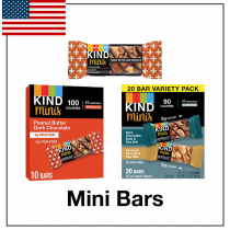1 Pallet of Dark Chocolate Nuts & Sea Salt & Caramel Almond & Sea Salt Mini Bars, 2,560 Units/8 Cases, New Condition, Ext. Retail $1,664, Rialto, CA