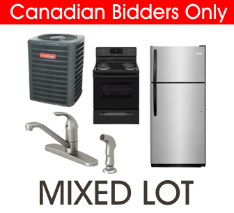 2 Pallets from Wolseley of Finished Sinks & Faucets, Boiler & More Ext. Retail $29,102 USD, Halton Hills, ON, Canada