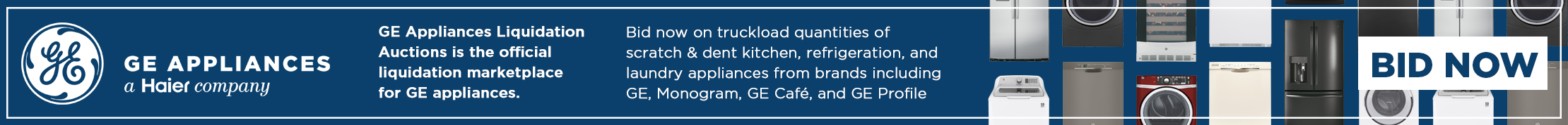 GE Appliances Liquidation Auctions Launch
