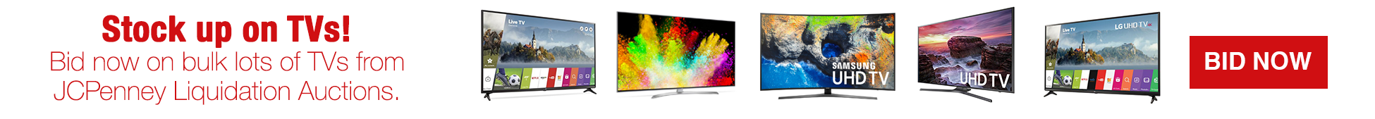 JCPenny Liquidation Auctions Bulk Lots TVs
