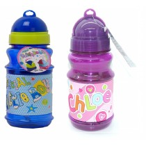 Girls' & Boys' Drinking Bottle w/Straw, BPA-Free, Personalised Choice of Name, 400 Units, Grade A Condition, Est. Original Retail £4,000, Runcorn, GB