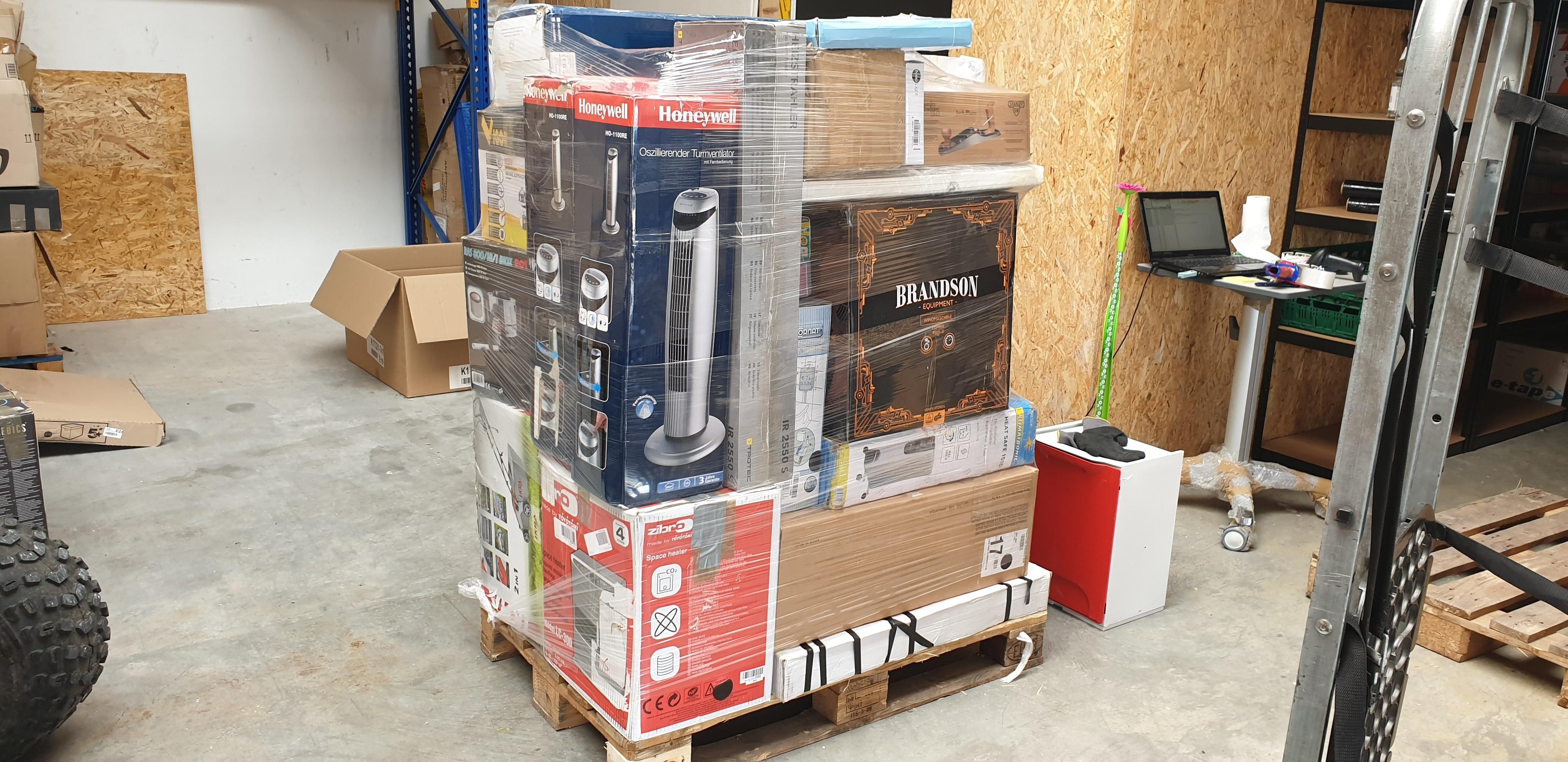 Home Tools, Home Goods Mixed Lots Est. Original Retail €49,742, Rennerod, DE
