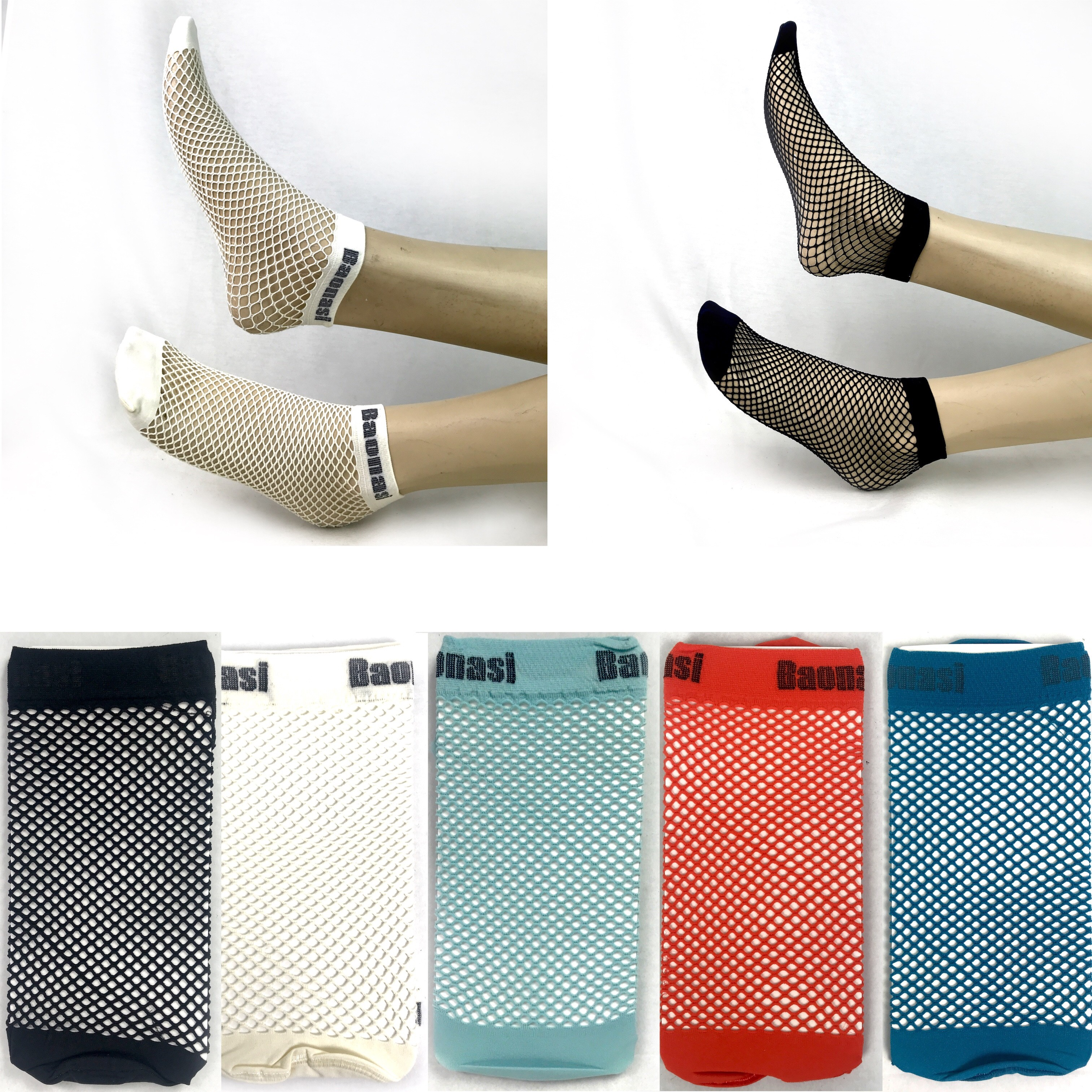 Pallet of Ladies' Fishnet Socks, Various Colours, 6 Est. Original Retail €12,012, Vilnius, LT