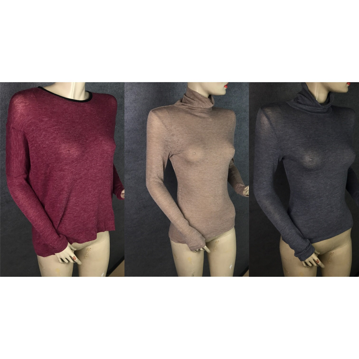 Pallet of Women's LS Fashion Tops, Blouses & T-Necks, Various Colours Est. Original Retail €8,250, Vilnius, LT