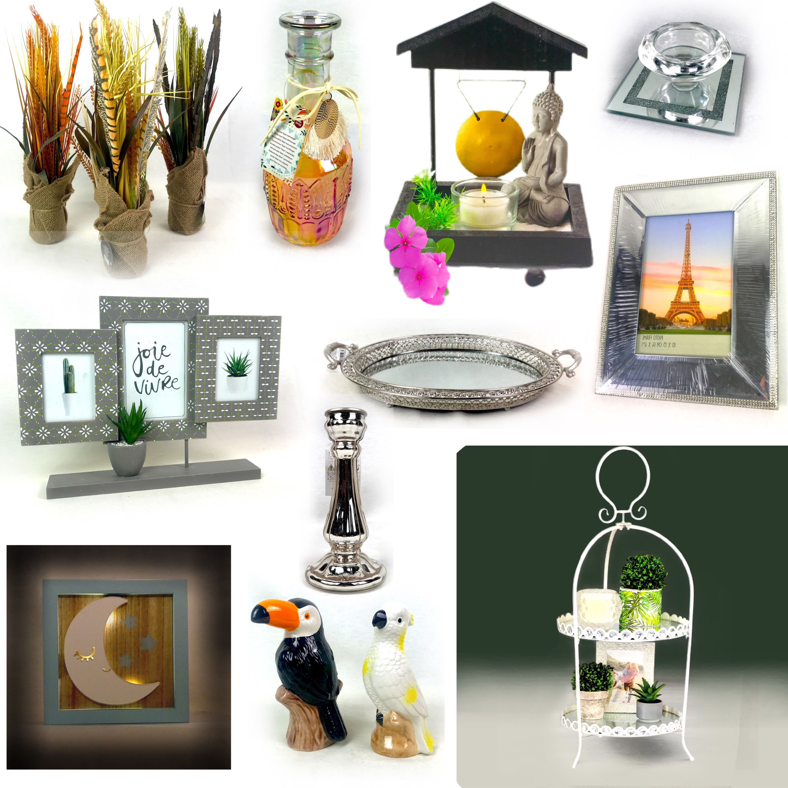 Decorative Glass, Tray, Vintage Mirror, Ceramics, Photo Frames, Flowers & More Est. Original Retail €6,784, Vilnius, LT