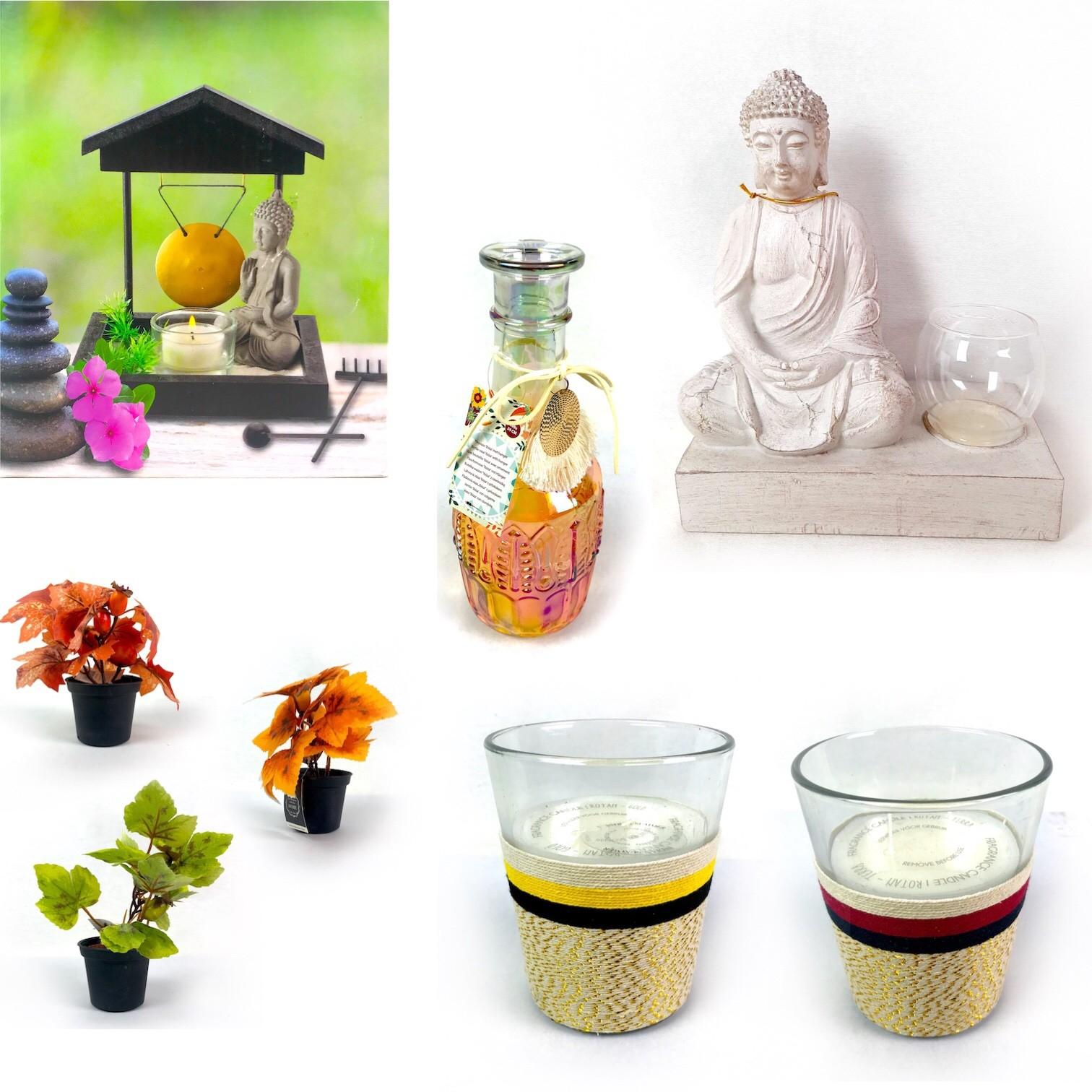 Pallet of Buddha Statues, Speech Bubble Light Boxes, Candles, Wall Deco & More Est. Original Retail €7,473, Vilnius, LT