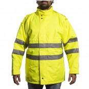 High Visibility Winter Parka. Yellow & Yellow/Navy Colours, 1,299 Units, Grade A Condition, Est. Original Retail €77,305, Sondika, ES
