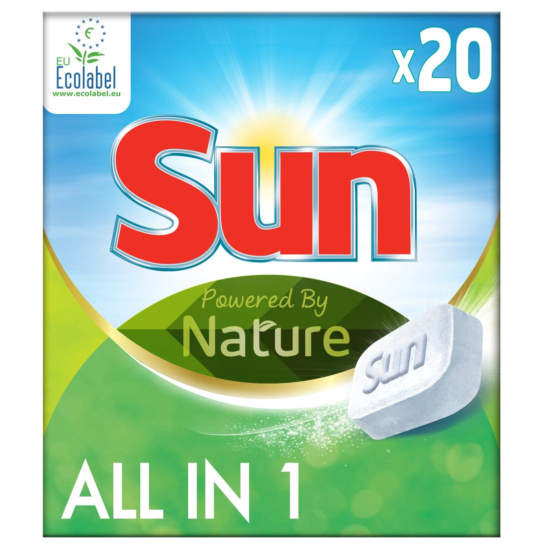 10 Pallets of Sun Dishwashing Detergent, 14,000 Pieces/1,000 Cases, Ext. Retail €111,860, Tiel, NL