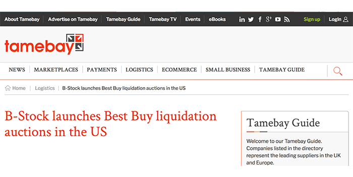 B Stock Launches Best Buy Liquidation Auctions In The Us B Stock