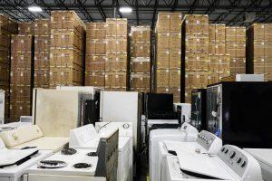 warehouse full of liquidation appliances