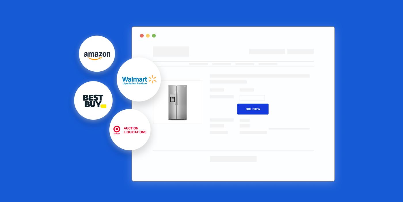 liquidation website graphic retailers