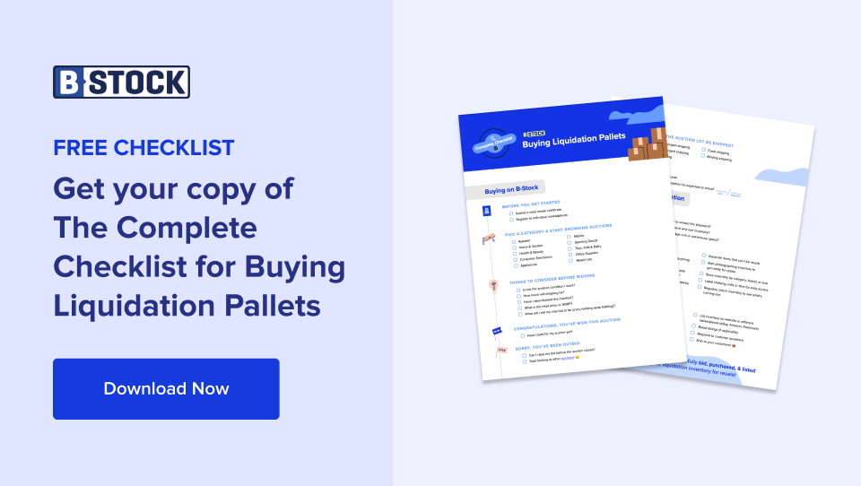 complete checklist for buying liquidation pallets